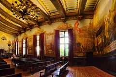 Santa Barbara Courthouse Mural Room, California, United States :: HDR (:: Artie | Photography :: Travel ~ Oct) Tags: california usa building history santabarbara architecture america photoshop canon court painting artwork angle mark room united iii tripod north wide murals engineering indoor government 5d courthouse states 15mm f28 ef hdr 1924 artie 3xp photomatix cs6 tonemapping tonemap muralroom 5dm3 danielsayregroesbeck santabarbaracourthousemuralroom