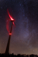 Milkyway over the Wind Turbine - Peuchapatte (Jura) - Switzerland (Rogg4n) Tags: longexposure nightphotography winter sky tree mill nature windmill night skyscape star switzerland energy nightscape suisse astro jura astrophotography windturbine étoile milkyway voielactée franchesmontagnes peuchapatte canoneos100d sigma1835mmf18dchsm