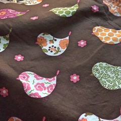 """I bought this fabric almost a year ago. I love the little birds, the colors, and the assortment of patterns. In fact, I love it so much that I can't seem to decide what to make with it. Hmm...  #1840farm #fabric • <a style=""""font-size:0.8em;"""" href=""""http://www.flickr.com/photos/54958436@N05/23904867296/"""" target=""""_blank"""">View on Flickr</a>"""