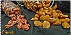 Almendras & Garrapiadas-Almond & Almond stones.Ex-Explore (CeciLeo V - d.) Tags: libretillaculinaria almond almondstones almendras garrapiadas bodegn explore2016 nature ps hdr