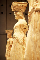 Caryatids (Katrinitsa) Tags: acropolismuseum democracy ancientgreece athens greece acropolis history civilization marbles sculpture sculptures art artistic parthenon colors museum exhibits light caryatids erechtheion priests pheidias classicalgreece classic classical ionian spirit ionic awe statue