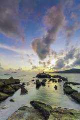 admiring the cloud (<Pirate>) Tags: sungai batu sunset low tide anglers rock fishing grouper colorful sky 1018 is stm ray masters soft gnd 9 teluk kumbar bayan lepas landscape seascape penang malaysia weather