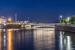 Evripos bridge (t.valilas) Tags: greece evia euboea euboia chalkis chalkida evriposbridge nightshot longexposure lights lightrails sea outdoor bridge