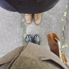 Symmetry (julia.samoilenko) Tags: symmetry autumn september 2016 people shoes date composition minimalism coat style stylish art photography brown black ukraine ukrainians