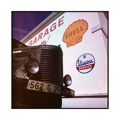 the garage  bel air, burgundy  2016 (lem's) Tags: bel air vintage garage n6 nationale 6 bourgogne burgundy shell truck camion publicit mural hasselblad 500cm