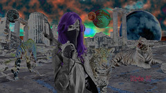 Kris K Productions (kriskproductions) Tags: kriskproductions cosplay cosplayphtographer templeofdoom wildlifephotography whitetiger jaguar moon superhero