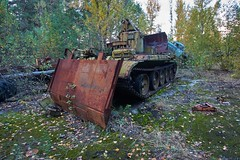 Vehicle Dump-(Chernobyl Exclusion Zone)_13 (Landie_Man) Tags: none vehicle car truck van tank minesweeper lorry radioactive radiation clean up liquidator liquidation chernobyl heros heroes pripyat scrap scrapped junk dumped transport transportation the zone exclusion ussr ccp cccp soviet union ukraine metal harvesting trash dead looted