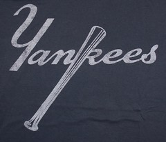 Yankees Bat Tee Shirt from the 70's (itstayedinvegas-4) Tags: newyorkyankees graphicteeshirts bronxbombers baseball mlb americanleague