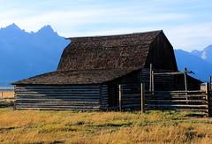 Old Log Barn, Mormon Row - Grand Tetons National Park and Grand Tetons, Wyoming (danjdavis) Tags: barn oldbarn mormonrow grandtetonsnationalpark nationalpark wyoming logbarn grandtetons rockymountains mountains