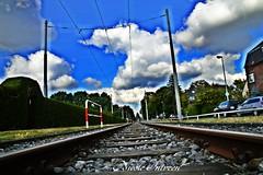 Railways to happiness? (n.intveen) Tags: bahnschienen nikond3200 nikon railways clouds wolkig