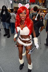 DSC_0666 (Randsom) Tags: nycc 2016 newyorkcomiccon nycomiccon javitscenter october nyc newyorkcity cosplay costume fun comicbooks comicconvention anime manga mascara eyeshadow redlips wig red africanamerican gorgeous beauty sexy woman girl bunny femmefatale vixen smile hot female