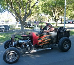 show is over headed out (bballchico) Tags: billetproofantioch carshow 2016 hotrod roadsterpickup flames