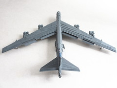 B-52H Stratofortress (revamped) (Mad physicist) Tags: lego b52h buff stratofortress bomber usaf barksdale