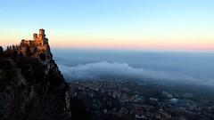 IMG_9282 San Marino (La Patti) Tags: san marino sunset sanmarino castle mist landscape december dicembre italy italia panorama paesaggio mountains mountain outdoor all'aperto tramonto