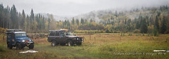 cruisers in the mist (fantomdesigns) Tags: cariboo bc camping trip 4x4 land cruiser