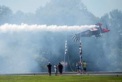 Got It! (Fly Sandman) Tags: skipstewart prometheus inverted ribboncut pitts airshow airplane aircraft aerobatics aerobatic jessejamesoutlawairshow smokeon biplane