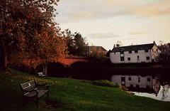 Red Bridge, River Teith, Callander (Pauline Deas) Tags: callander trossachs river teith reflections meadows red bridge