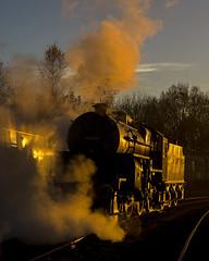 Golden Crab (Nigel Gresley) Tags: november crab 13065 steam locomotive shed east lancashire railway sunset rails