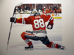 """Raising Kane"" (BT Illustrations) Tags: patrickkane kane chicagoblackhawks nhlhockey nhlart nhl watercolor watercolours icehockey 88"