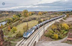 Shiny tanker (cossie*bossie) Tags: vectron kalina pimk 193 962 rail dmv tanker cars freight train iskar gorge sofia bulgaria autumn river rocks railways siemen electric locomotive