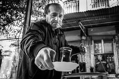 Have a tea (Mustafa Selcuk) Tags: candid sokak 16mm xpro2 fujifilm fujifilmtr service tea turkey istanbul siyahbeyaz blackandwhite monochromatic monochrome streetphotography streetphotographer streetshooter street