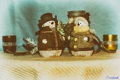 Hilda & Roy (wordsmith_Cornwall) Tags: christmas snowmen