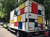Sighted in Rotterdam Noord (Joey Johannsen) Tags: vehicle mondoraan truckwithmondrianpainting truck artonatruck pietmondrian rotterdam nederland parked
