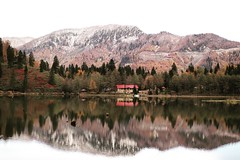Reflection (***melikekaraam) Tags: absolutelystunningscapes lake green reflected reflection outdoor nature hill landscape mountainside mountain