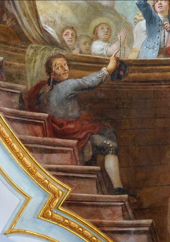 Deckenfresko Detail