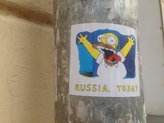 Russia, today (GrusiaKot) Tags: ucraina ukraine україна украина travelling autumn russiatoday sticker funny politics simpson