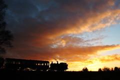 Severn Valley Railway Season Finale Gala 2016 (Keith Wilko) Tags: svr severnvalleyrailway steamtrain steam steamlocomotives steamengine uksteamlocomotives locomotive loco svrlocomotives severnvalleysteam sevenvalleyrailway 813 loco813 813loco 813locomotive greatwesternrailway toplights sunset sky