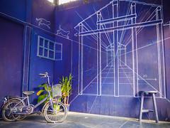 藍晒圖 (畫#攝) Tags: taiwan 戶外 台南 藍晒圖 藝術 街拍 panasonic gx7 台灣 nature art light blue explore 探索