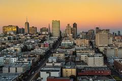 San Francisco Sunset (Jochem van de Weg) Tags: san francisco usa america sunset roadtrip view city skyline sky orange sun skycraper buildings line