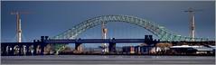 Silver Jubilee Bridge and the New Mersey Gateway Bridge 18th November 2016 (Cassini2008) Tags: merseygatewayproject silverjubileebridge runcornbridge
