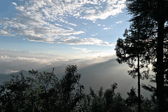 Garhwal Himalaya..... A Morning Landscape (pallab seth) Tags: morning dawn landscape sunrise pauri himalayas nature blue cloud sky outdoor autumn colour uttarakhand india garhwal mountain layer