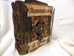 Incantations Mini Album (LynzCraftz) Tags: polymerclay pendant resin art acrylicpaint oneofakind handmade
