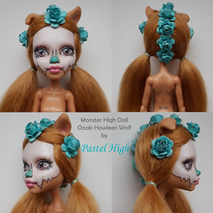 Ooak Howleen Wolf  is 1 of only 2 dolls left in my Etsy shop! (Pastel High) Tags: ooakdoll howleen mh monsterhigh custom sugarskull