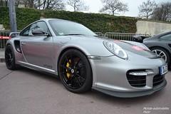 Porsche 911 GT2 RS 997 (Monde-Auto Passion Photos) Tags: auto automobile porsche 911 gt2 rs 997 coup gris france paris rally evenement sportive supercar