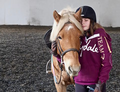 Bliss........a young girl and her pony (favmark1) Tags: phoebe max pony love bliss