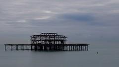 Destroyed (Nick Fewings 4.5 Million Views) Tags: nickfewings december sea sussex uk iron metal fire pier brighton