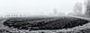 Jamtli, Östersund, September 21, 2016 (Ulf Bodin) Tags: höst jamtli sverige gärdesgård nyplöjt canonef35mmf14liiusm skigard hayrack panorama dimma september sweden autumn mist ploughed plöjt volme jämtland museum scandinavia canoneos5dsr nästgården fog outdoor fence östersund field jämtlandslän se blackandwhite