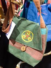 Hand dyed hemp bag, Sue Theolass, Lavender Moon (marketkim) Tags: eugenestyle holidaymarket giftguide soeug eugene oregon saturdaymarket festival artfair eugenesaturdaymarket artfestival
