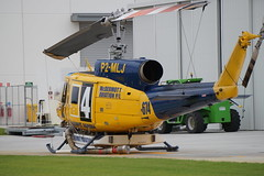 P2-MLJ Bell 214B1 (johnedmond) Tags: perth ypjt jandakot jad bell chopper helicopter australia aviation aircraft aeroplane