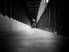 They see me rollin' (Sandy...J) Tags: olympus monochrom mono noir architektur architecture blackwhite bw fotografie photography fahrrad bridge brcke bike biker cyclist streetphotography sw schwarzweis strasenfotografie urban