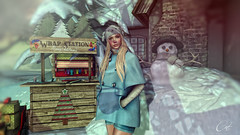 Reason to blush (Catherine Milena) Tags: secondlife winter outdoor wasabi insol chezmoi
