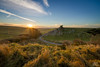 Top of Cheddar (PhotoDoyl) Tags: cheddar gorge mendips charterhouse landscape wideangle sunset december winter grass