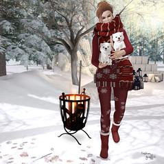 ~252~ Sweater Weather (Ana ~ Fashion Graffiti Blog) Tags: secondlife fashion belleza akeruka 7deadlys{k}ins phoenix ikon rirlifedesign thefrozenfair empire izzies fashiowlposes tannenbaum