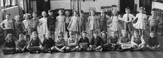 Thornton, Birmingham (theirhistory) Tags: uk school girls england boys shirt kids children photo education shoes dress group skirt class jacket photograph bow junior gb zipper jumper shorts form wellies primary rubberboots