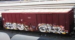 enron - steel (timetomakethepasta) Tags: train graffiti steel boxcar msk tone freight dma eec enron
