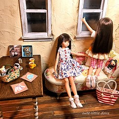 """Ahhh...."" :D (cute-little-dolls) Tags: bear reflection cute bag toy miniature doll handmade kawaii dollhouse chibiko minidoll petworks ruruko newof"